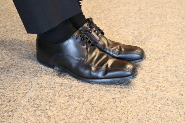靴をはいた状態
